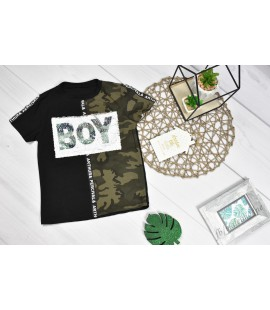 T-shirt cekiny BOY 98 - 152