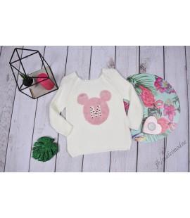 Sweterek Minnie Perełki 98 - 164