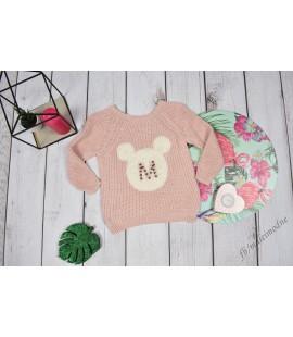 Sweterek Minnie Perełki puder 98-104/122-128/140-146/152-158