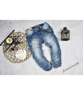 Jeansy STAY COOL  z łańcuszkiem 116-146 cm