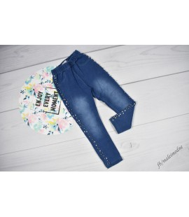Legginsy ala jeans perełki 98 - 152cm