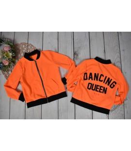 Bomberka DANCING QUEEN neon pomarańcz 98-164cm