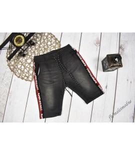 Szorty jeans LAMPAS & NAPISY czarne 98 - 164cm