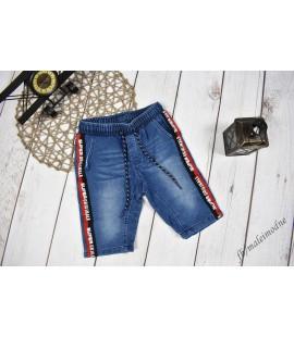 Szorty jeans LAMPAS & NAPISY niebieskie 98 - 164cm