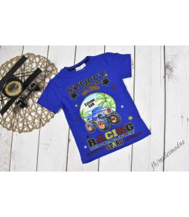 T-shirt  LED migający MONSTER TRUCK 104 - 128cm