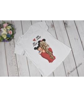 T-shirt Mama i Minnie baby boy  - 104/110cm