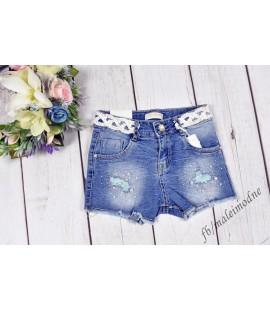 Szorty jeans KORONKOWY PAS 98 - 164cm