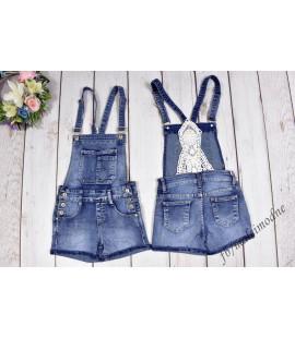 Szorty ogrodniczki jeans KORONKA  122 - 176 cm
