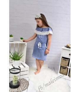 Sukienka  Hiszpanka z KIESZONKAMI  98 - 164cm