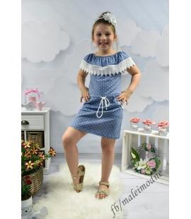 Sukienka  Hiszpanka w groszki  z KIESZONKAMI  98 - 164cm