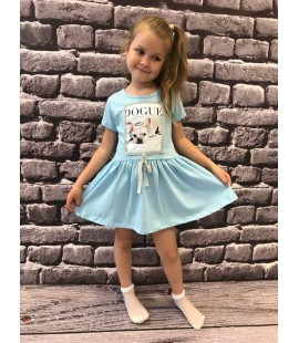 Sukienka DOGUE - błękit 98 - 164cm