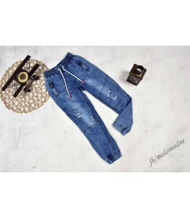 Joggery jeans DZIURY 122/128cm