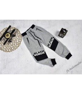 Spodnie szare BLACK 98- - 152cm