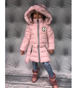 Kurtka zimowa M  jak Minnie pudrowa  98 - 152cm