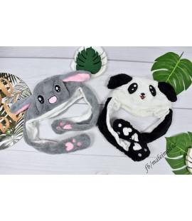 Czapka PANDA ze skaczącymi uszami UNI