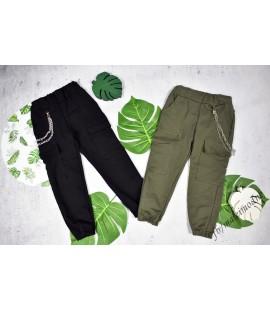 Spodnie BOJÓWKI z  ŁAŃCUSZKIEM 98 - 164cm