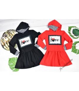Sukienka Minnie czerwona i czarna 98 - 164cm