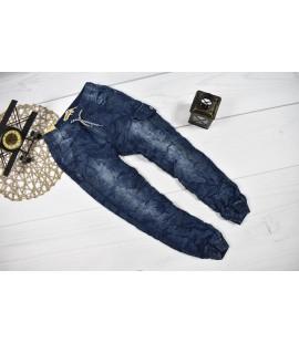 Joggery jeans BOJÓWKI gniecione 140-146cm
