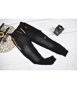 Spodnie a'la jeans mocno ocieplane BOJÓWKI 122 - 176cm