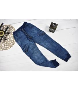 Joggery jeans moro BOJÓWKI z kieszonkami  122- 152cm