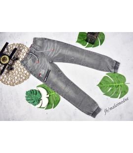 Joggery jeans szare PRZESZYCIA 122- 140cm