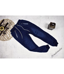 Spodnie a'la jeans bardzo mocno ocieplane 122 - 164cm