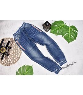 Joggery jeans The GENGS + biało-czerwony lampas 122- 176cm