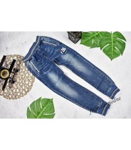 Joggery jeans  WZÓR a'la sznurek 98 - 152cm