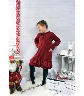 Wizytowa sukienka wiązana 98  - 164cm