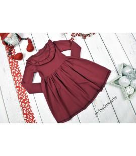 Sukienka bordowa FALBANKA 86-140cm