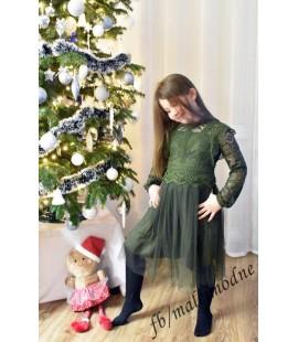 Wizytowa sukienka KORONKA de lux 98  - 164cm
