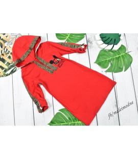 Sukienka Minnie & panterkowe lampasy  98 - 164cm