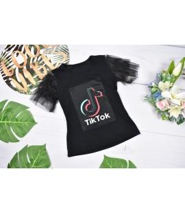 T-shirt TIK TOK  tiulowe rękawki 98 - 164 cm