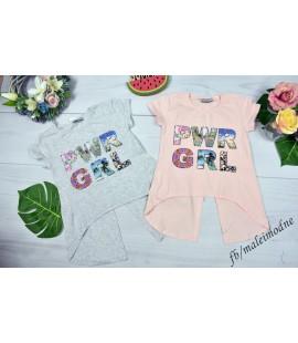 T-shirt z rozcięciem POWER GIRL  140 - 164 cm