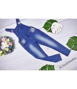 Ogrodniczki jeans gładkie - 122 -176cm