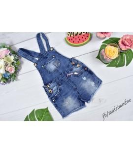 Szorty ogrodniczki jeans GWIAZDKA 98 - 152 cm