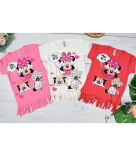 T-shirt z frędzlami  Myszka Minnie 86 - 140cm