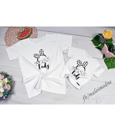 T-shirt Mama i córka LADY BOSS - córka 92 - 146cm