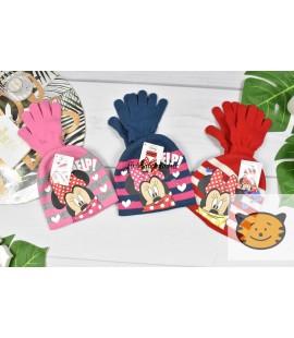 Czapka+rękawiczki Myszka Minnie 52-54