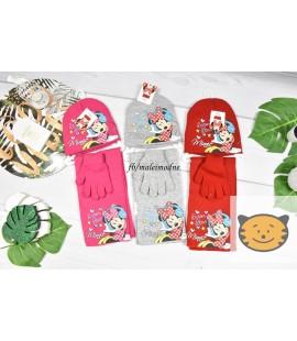 Czapka + szalik + rękawiczki Myszka Minnie 52-54