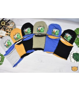 Komplet  czapka + komin MINECRAFT dwustronne