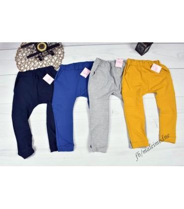 Spodnie BAGGY  z przyszyciami 104 - 146cm